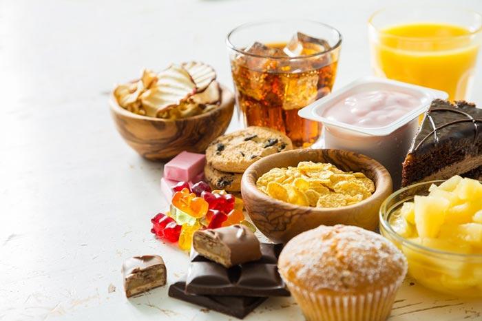Foods high in sugar